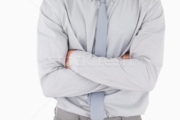 Сток-фото: бизнесмен · белый · рук · счастливым · работу