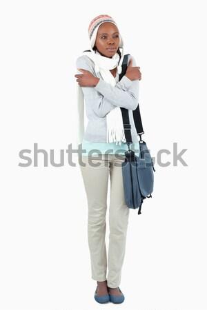 小さな 学生 スカーフ 帽子 白 図書 ストックフォト © wavebreak_media
