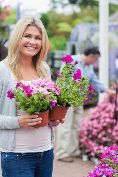 Cliente fiori sorridere donna sorriso Foto d'archivio © wavebreak_media