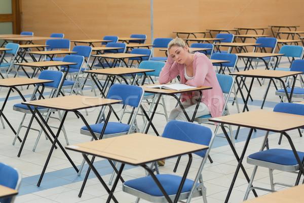öğrenci eğitim büro boş sınav Stok fotoğraf © wavebreak_media