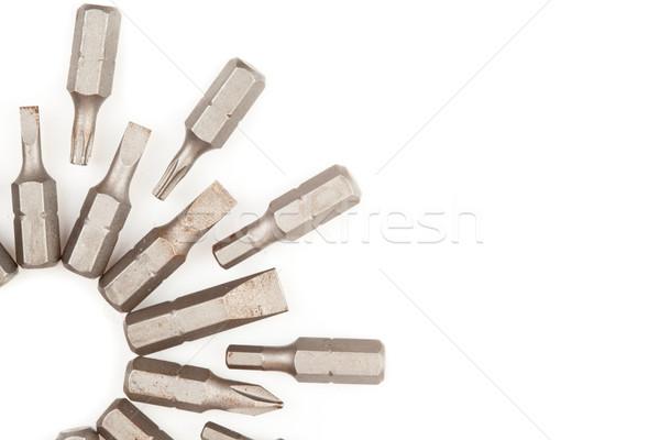 Közelkép különböző fúró kör építkezés Stock fotó © wavebreak_media