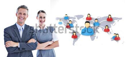 Digital Screen rojo gráfico equipo de negocios Foto stock © wavebreak_media