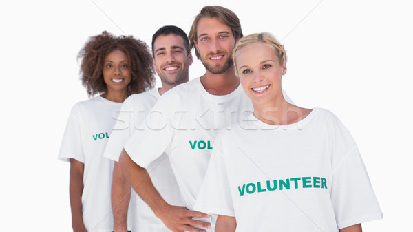 Mosolyog önkéntes csoport fehér nő férfi Stock fotó © wavebreak_media