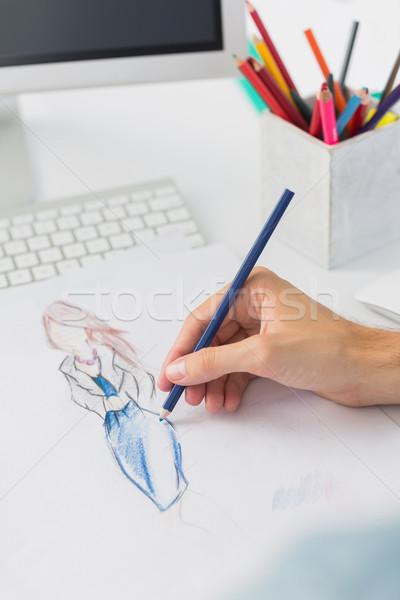 Extrême mode designer travail dessins Photo stock © wavebreak_media