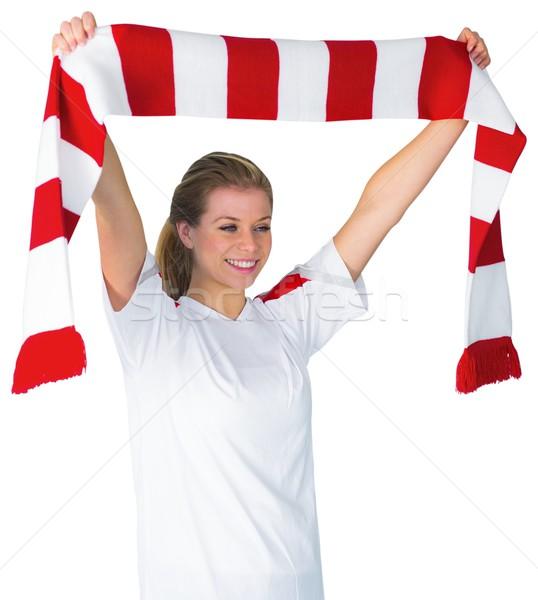 Bastante fútbol ventilador blanco fútbol Foto stock © wavebreak_media