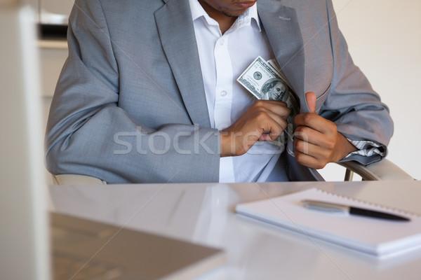 Işadamı dolar ofis iş defter büro Stok fotoğraf © wavebreak_media