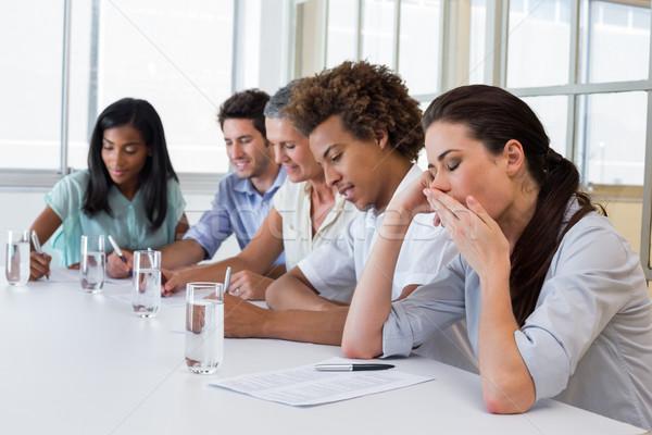 Gente de negocios aburrido oficina mujer equipo Foto stock © wavebreak_media
