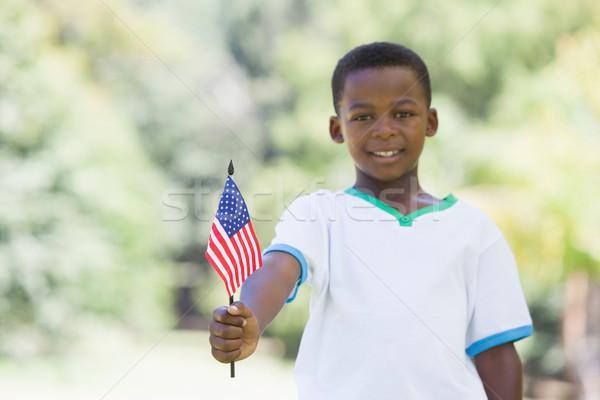 Little boy celebrating independence day in the park Stock photo © wavebreak_media