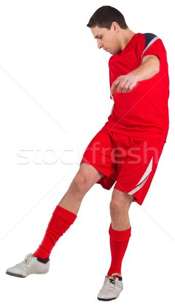 Fitt fiatal futballista rúg fehér férfi Stock fotó © wavebreak_media