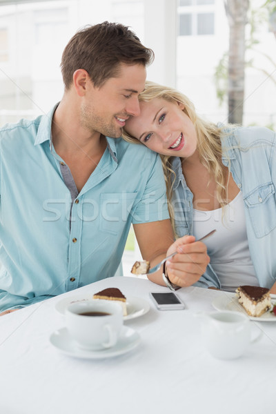 бедро пустыне кофе вместе кафе Сток-фото © wavebreak_media