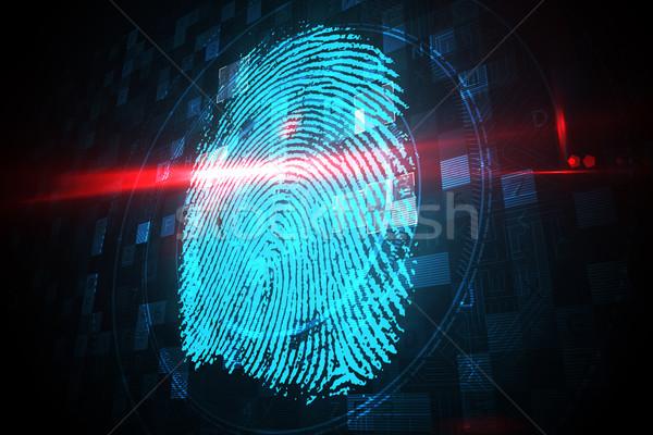 цифровой безопасности пальца печать сканирование синий Сток-фото © wavebreak_media