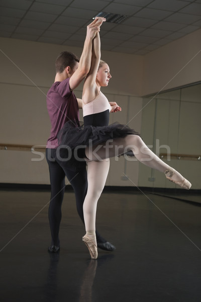 Ballet partners dancing gracefully together Stock photo © wavebreak_media