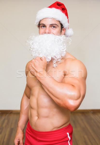 человека поддельный борода спортзал портрет Сток-фото © wavebreak_media