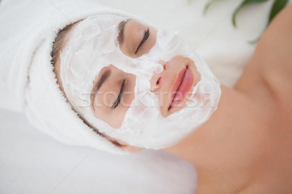 Gyönyörű szőke nő kezelés gyógyfürdő hotel fürdő Stock fotó © wavebreak_media