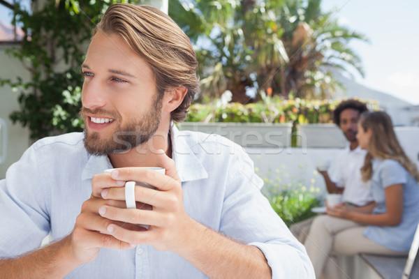 Thoughtful man having a coffee  Stock photo © wavebreak_media