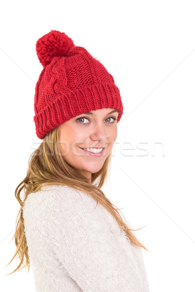 Happy blonde in winter clothes Stock photo © wavebreak_media
