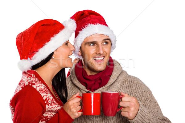 Jovem casal feliz chá Foto stock © wavebreak_media