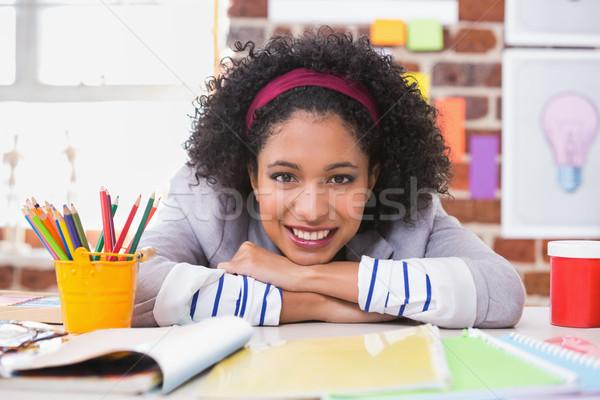 Portrait of female interior designer at desk Stock photo © wavebreak_media