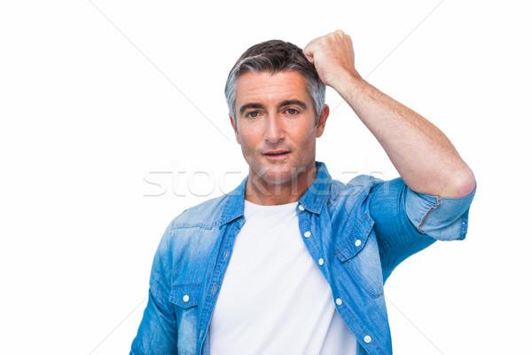 Zweifelhaft Mann Faust Kopf weiß männlich Stock foto © wavebreak_media