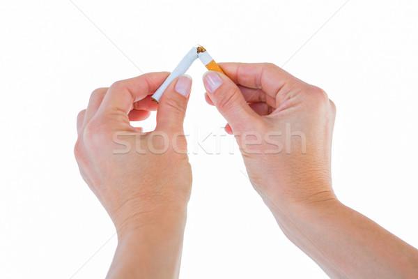 Close up of a woman breaking cigarette  Stock photo © wavebreak_media