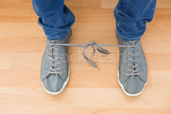 Mans shoes with tangled laces Stock photo © wavebreak_media