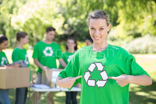 幸せ 環境の 公園 女性 世界 ストックフォト © wavebreak_media