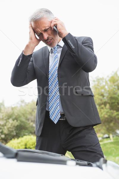 絶望的な 男 呼び出し ダウン 道路 ストックフォト © wavebreak_media