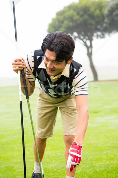 гольфист мяч для гольфа гольф спорт зеленый улыбаясь Сток-фото © wavebreak_media