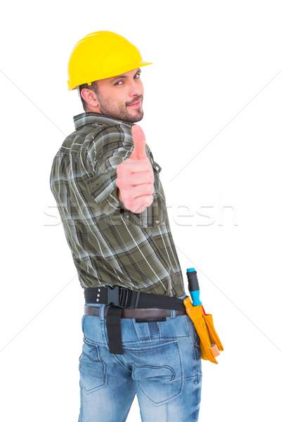 Manual trabalhador polegar para cima Foto stock © wavebreak_media