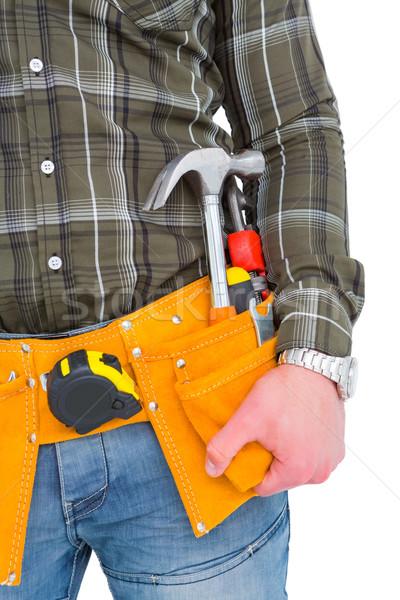 Handyman ferramenta cinto branco mão Foto stock © wavebreak_media