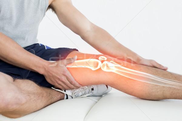 Knie gewond man digitale composiet handen gezondheid Stockfoto © wavebreak_media