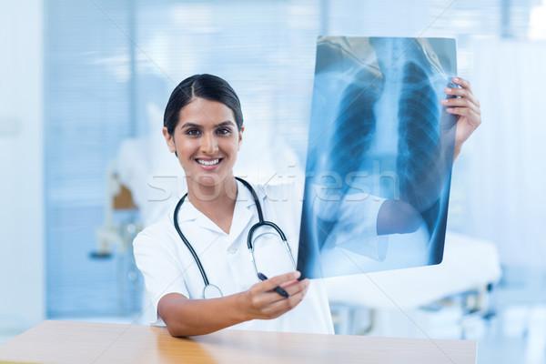 Güzel gülen doktor xray hastane oda Stok fotoğraf © wavebreak_media