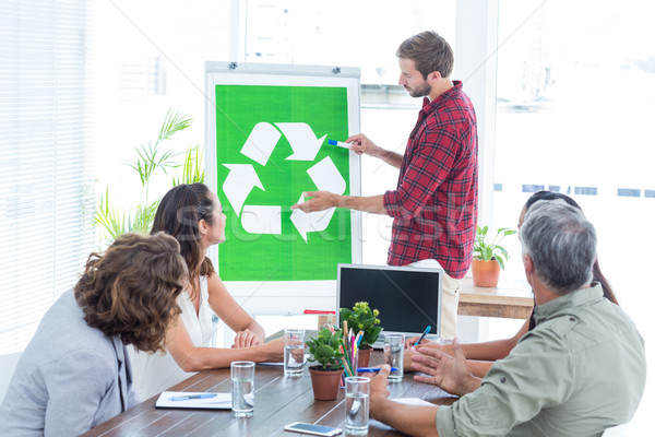 Young creative team having a meeting about recycling Stock photo © wavebreak_media