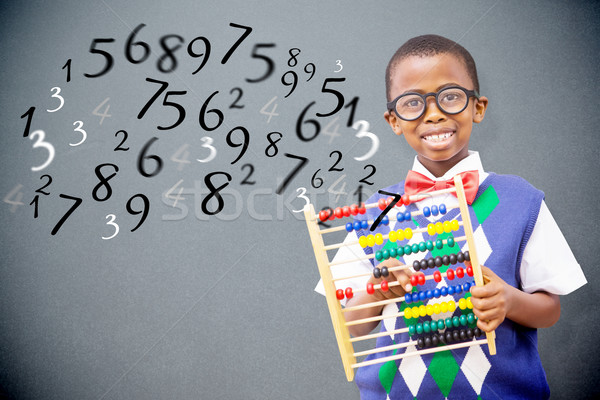 Composite image of pupil with abacus Stock photo © wavebreak_media