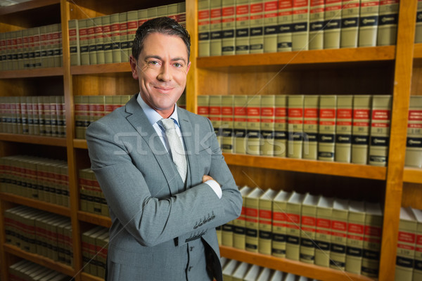 Adwokat stałego prawa biblioteki uczelni książki Zdjęcia stock © wavebreak_media