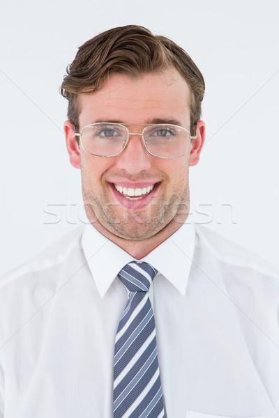Biznesmen uśmiechnięty kamery biały działalności tie Zdjęcia stock © wavebreak_media