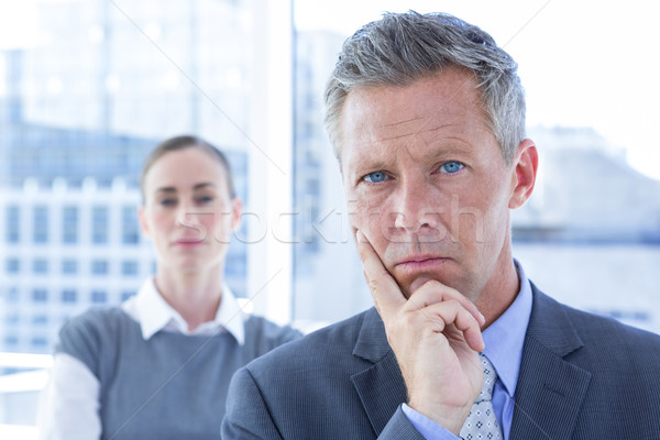 Puzzled businessman in the office Stock photo © wavebreak_media