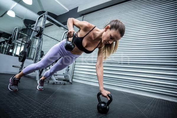 мышечный женщину здоровья клуба Сток-фото © wavebreak_media