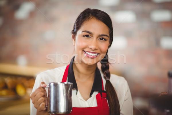 Sorridere barista ritratto coffee shop Foto d'archivio © wavebreak_media
