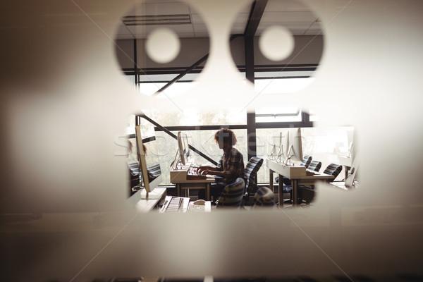 Male audio engineer working on digital editing screen Stock photo © wavebreak_media