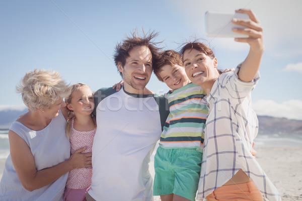 Feliz família praia homem Foto stock © wavebreak_media