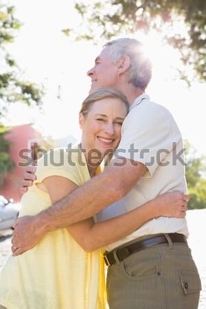 мнение женщину расслабляющая Председатель хижина Сток-фото © wavebreak_media