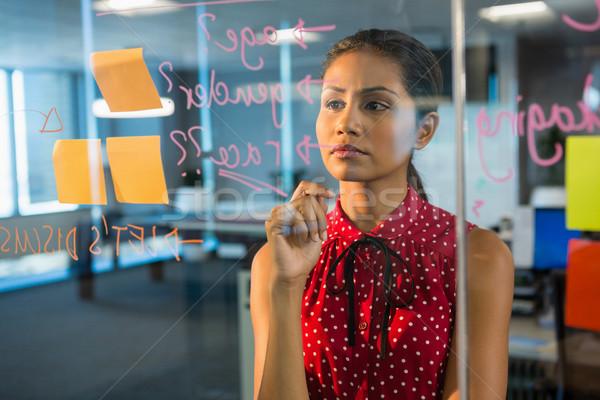 Kadın yürütme bakıyor ofis Stok fotoğraf © wavebreak_media