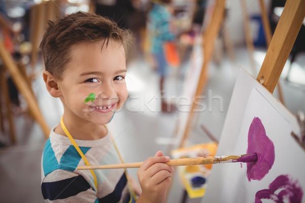 Retrato feliz estudante lona desenho Foto stock © wavebreak_media