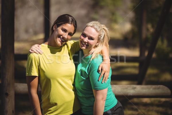 肖像 幸せ 友達 立って 腕 周りに ストックフォト © wavebreak_media