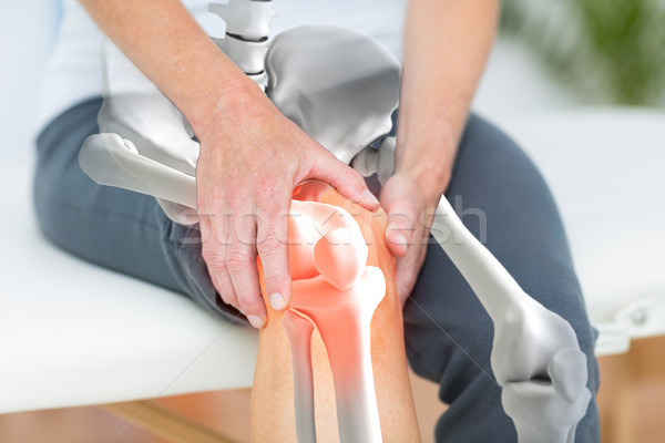 Man suffering with knee inflamation Stock photo © wavebreak_media