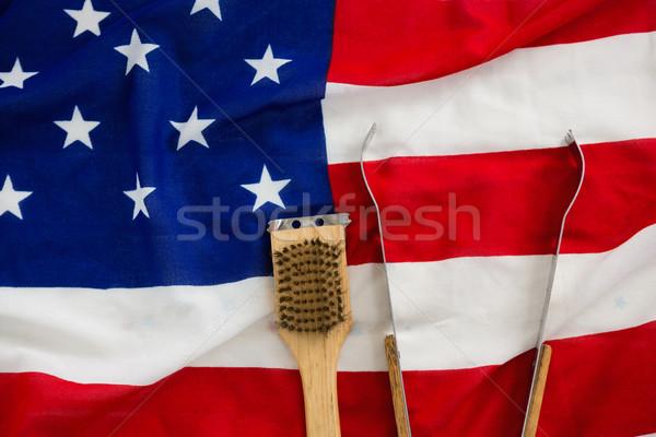 Borstel Amerikaanse vlag achtergrond vlag vrijheid vakantie Stockfoto © wavebreak_media