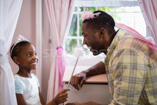 幸せ 父 娘 着用 衣装 ホーム ストックフォト © wavebreak_media