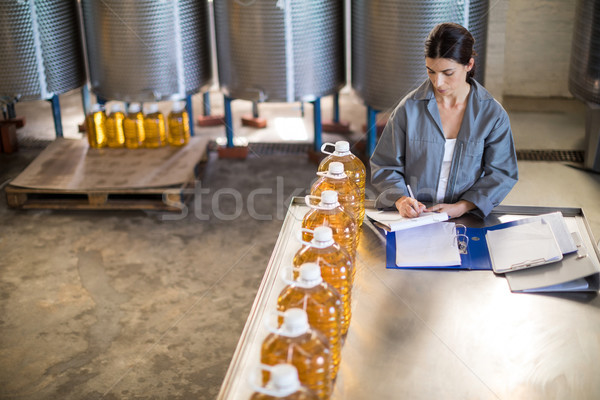 Female worker maintaining record in notepad Stock photo © wavebreak_media