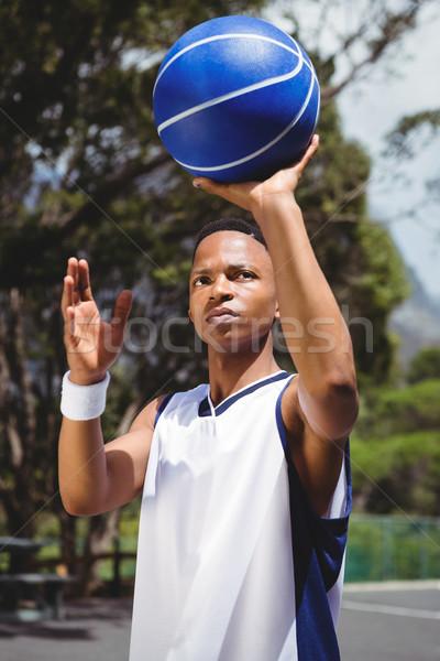 Basketbal oefenen rechter Stockfoto © wavebreak_media